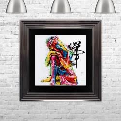 3D Coloured Buddha Art