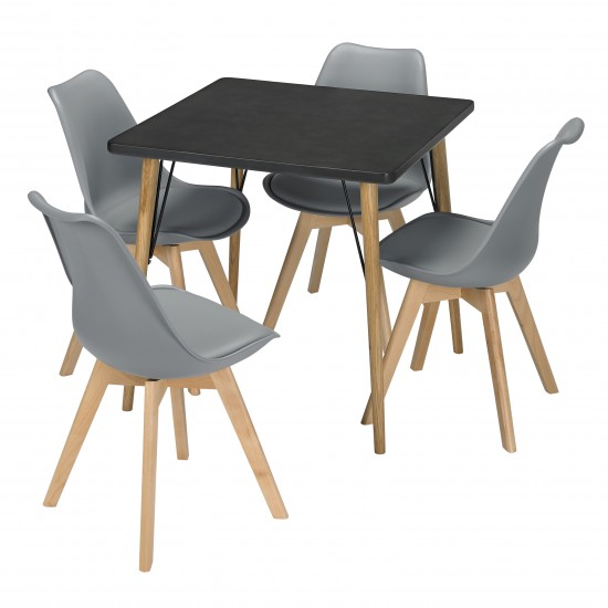 Mercer Table with Louvre Chairs