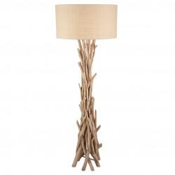 Driftwood and Jute Floor Lamp