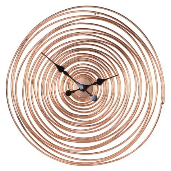 Copper Wire Spiral Clock